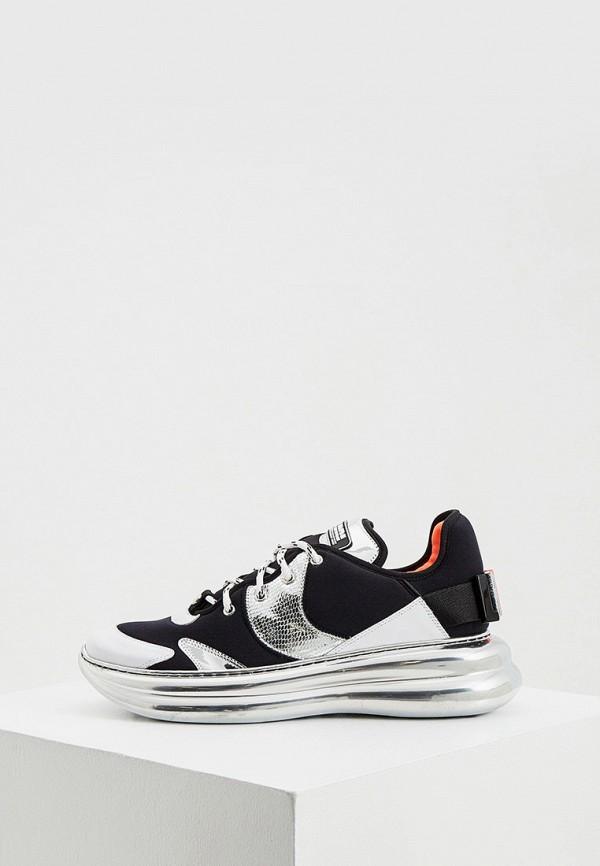 женские низкие кроссовки loriblu, черные