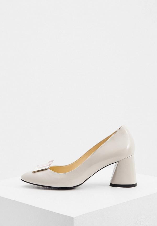 женские туфли с закрытым носом fabi, бежевые