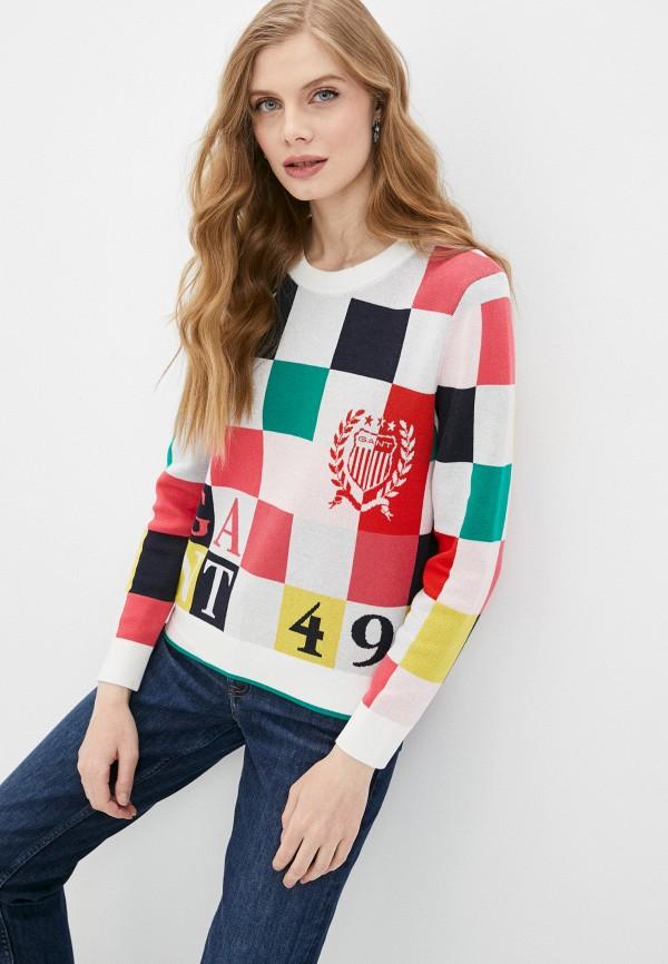 женский джемпер gant, разноцветный