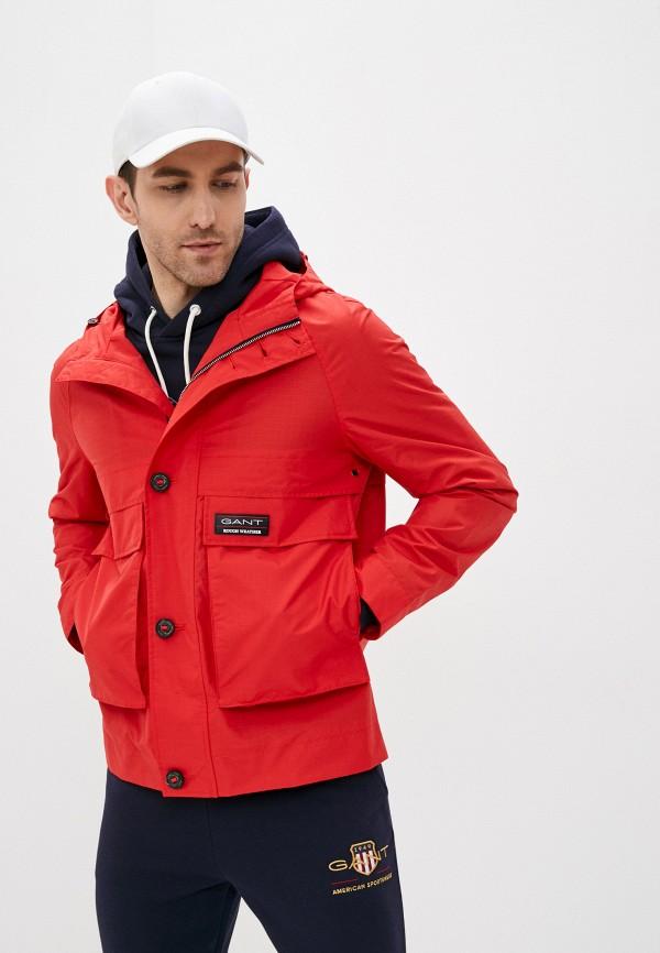 мужская куртка gant, красная