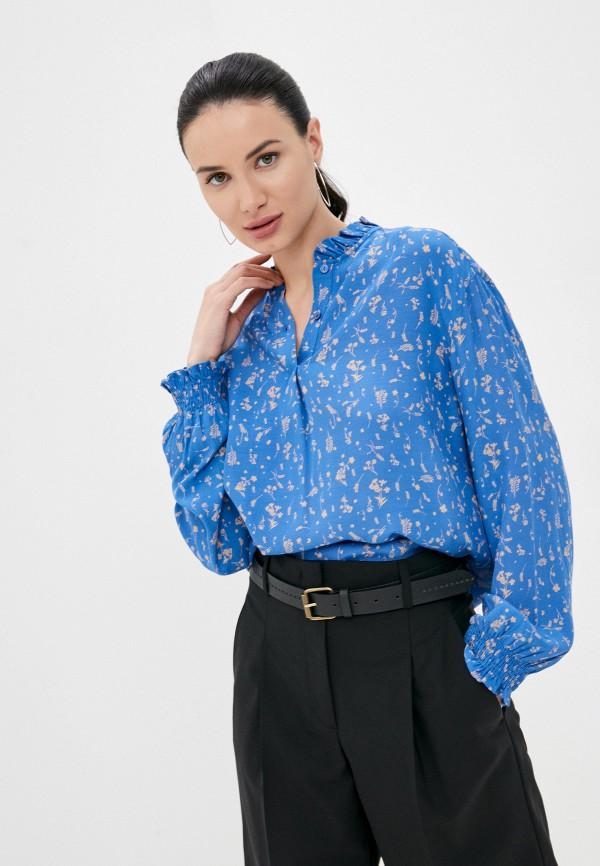женская блузка marc o'polo denim, синяя