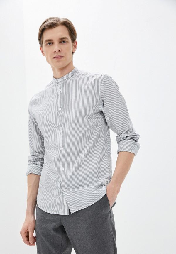 мужская рубашка с длинным рукавом marc o'polo denim, серая