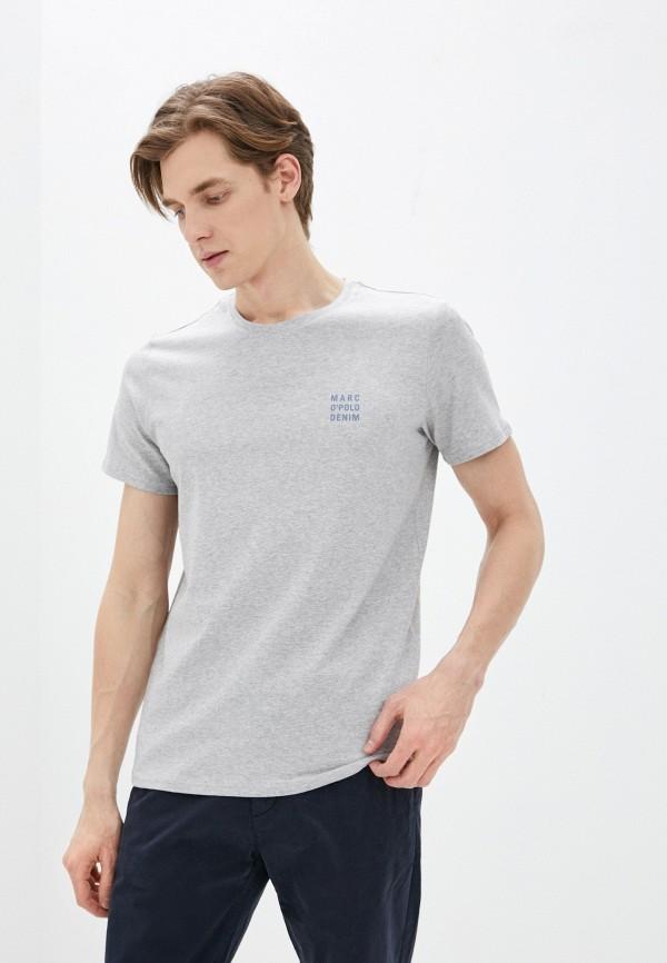 мужская футболка с коротким рукавом marc o'polo denim, серая
