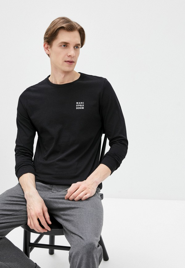 мужская футболка с коротким рукавом marc o'polo denim, черная