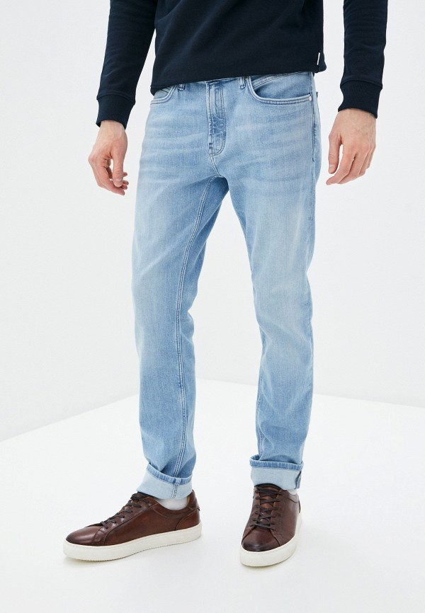 мужские зауженные джинсы marc o'polo denim, голубые