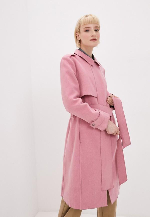 женское пальто tantra, розовое