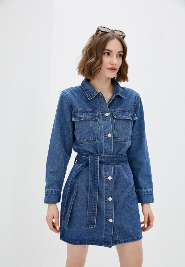 женское джинсовые платье tantra, синее
