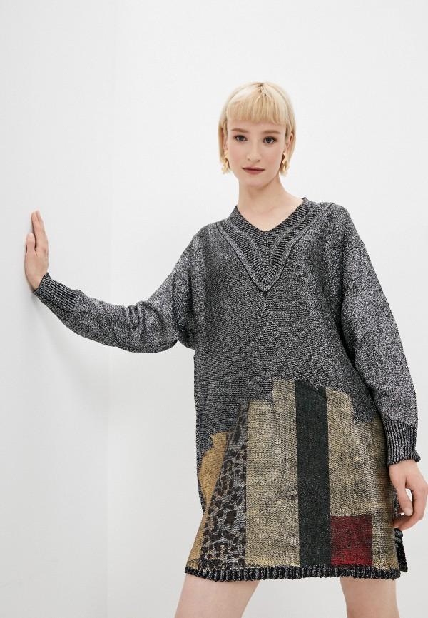 женское платье-свитеры tantra, серебряное