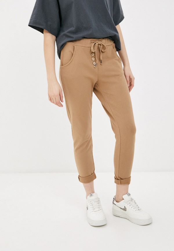 женские брюки tantra, бежевые