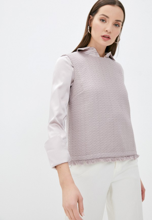 женская блузка stefanel, розовая