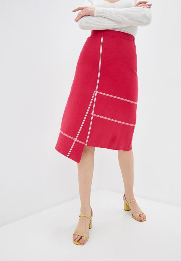 женская юбка-трапеции stefanel, розовая