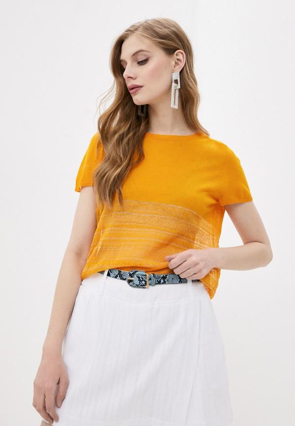 женский кардиган stefanel, желтый