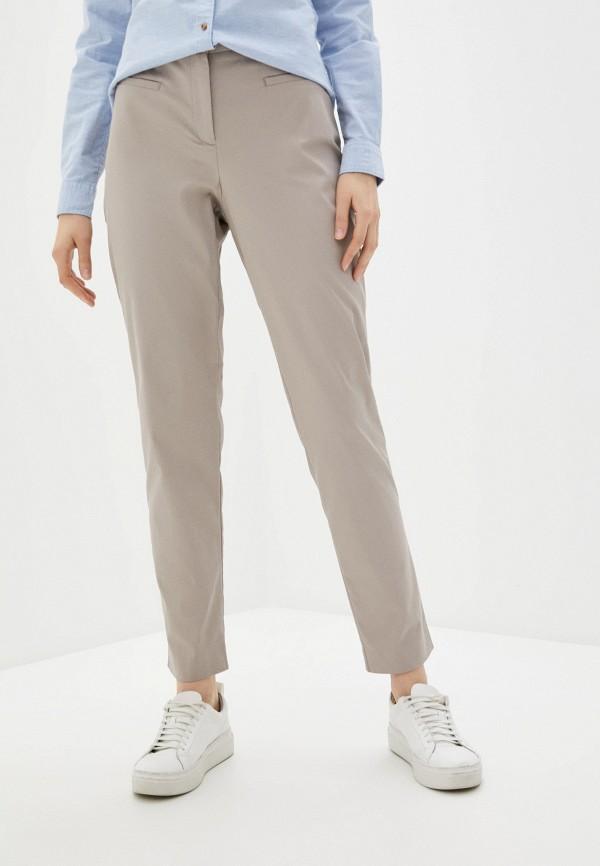 женские зауженные брюки stefanel, бежевые