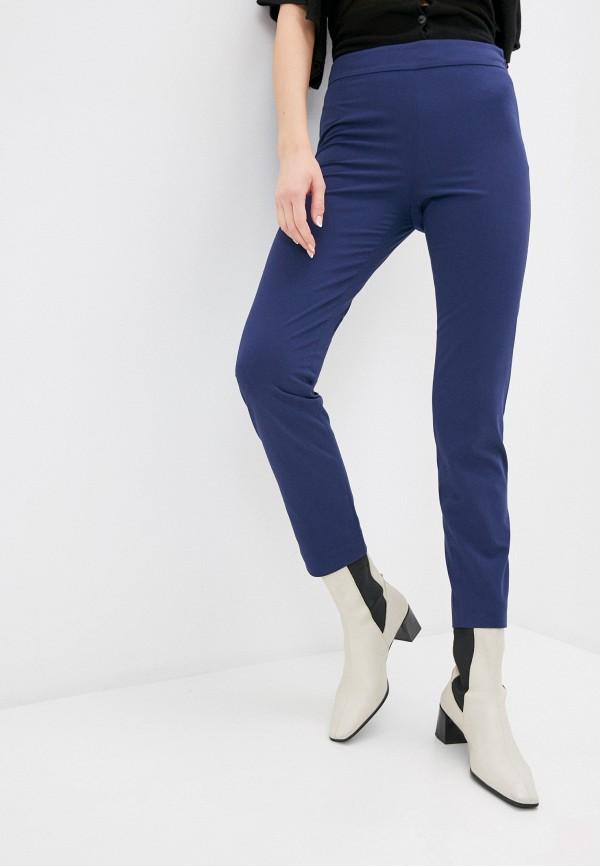 женские классические брюки stefanel, синие