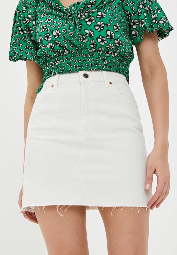 женская джинсовые юбка topshop, белая