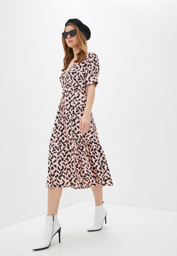 женское повседневные платье topshop, розовое