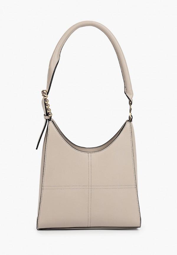 женская сумка topshop, бежевая
