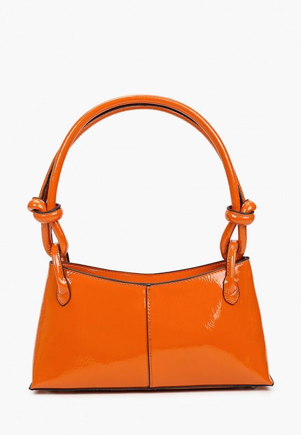 женская сумка с ручками topshop, оранжевая