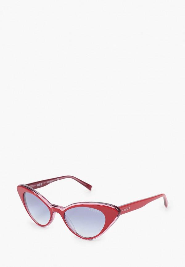женские солнцезащитные очки кошачьи глаза vogue® eyewear, красные