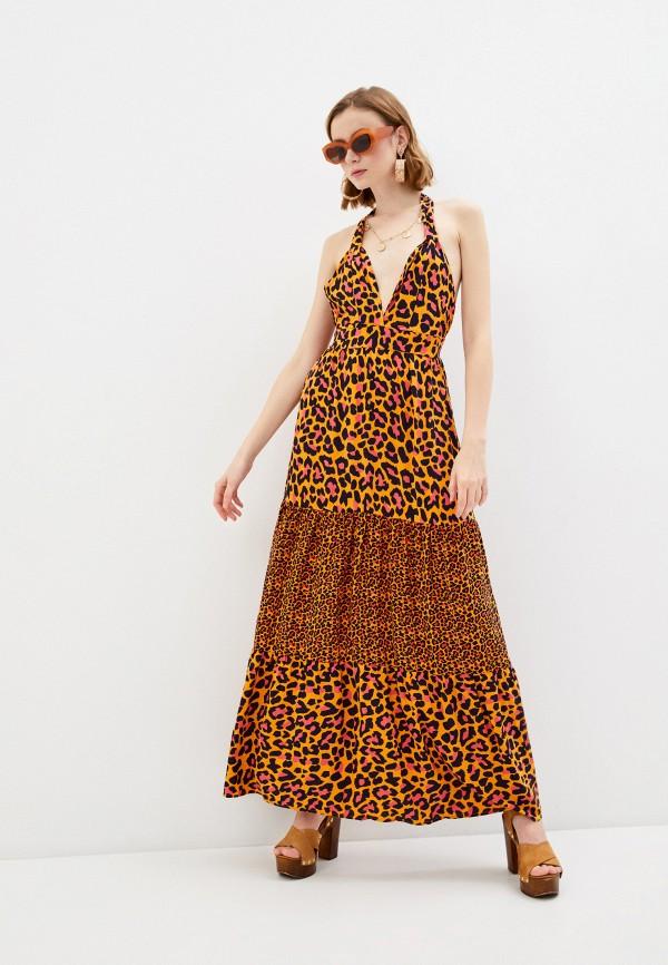 женское платье maaji, оранжевое