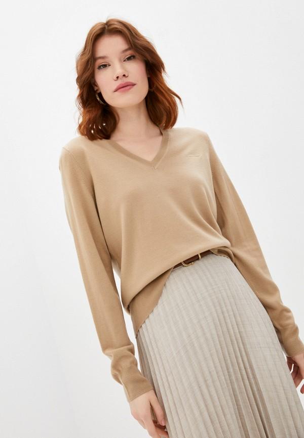 женский пуловер burberry, бежевый