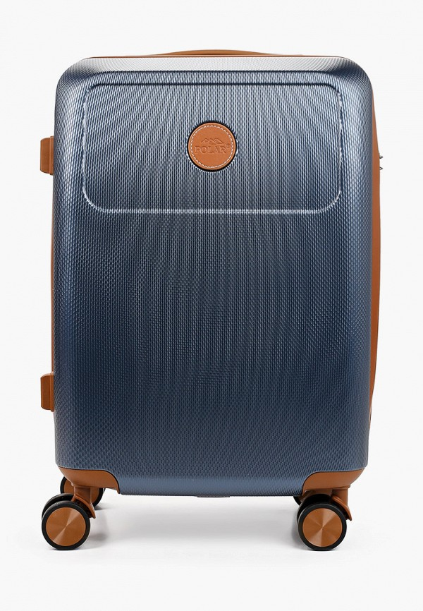женский чемодан polar, синий