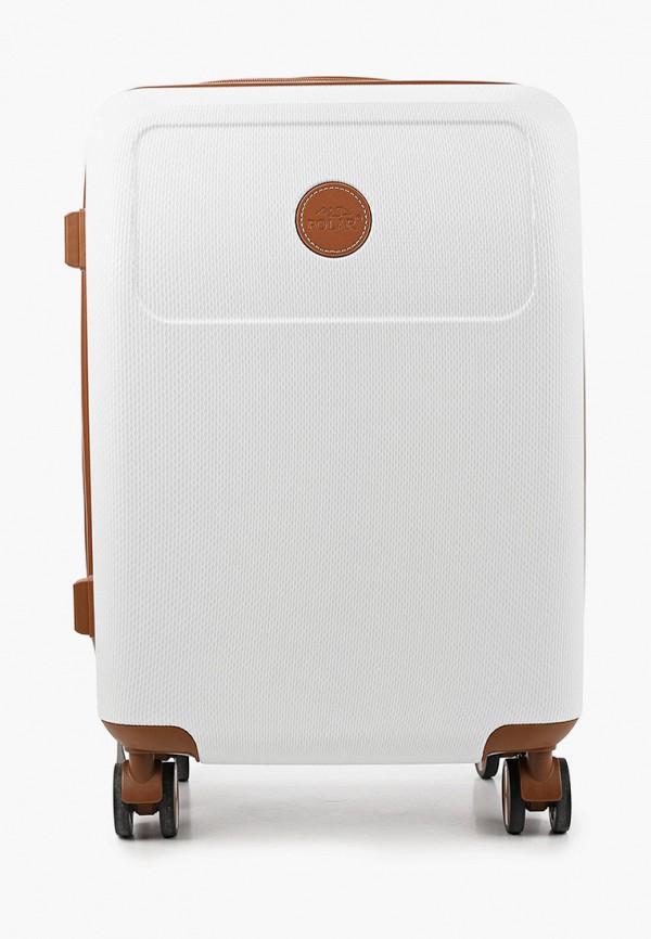 женский чемодан polar, белый