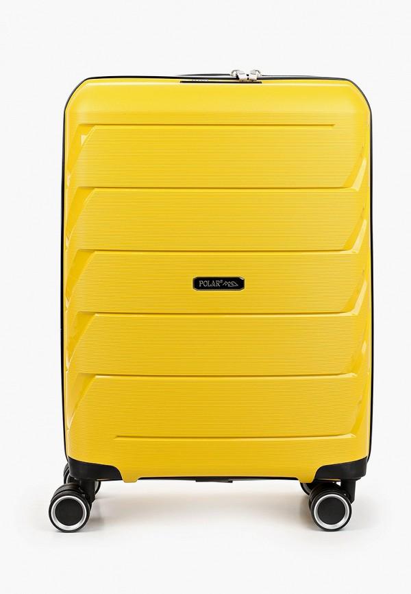 женский чемодан polar, желтый