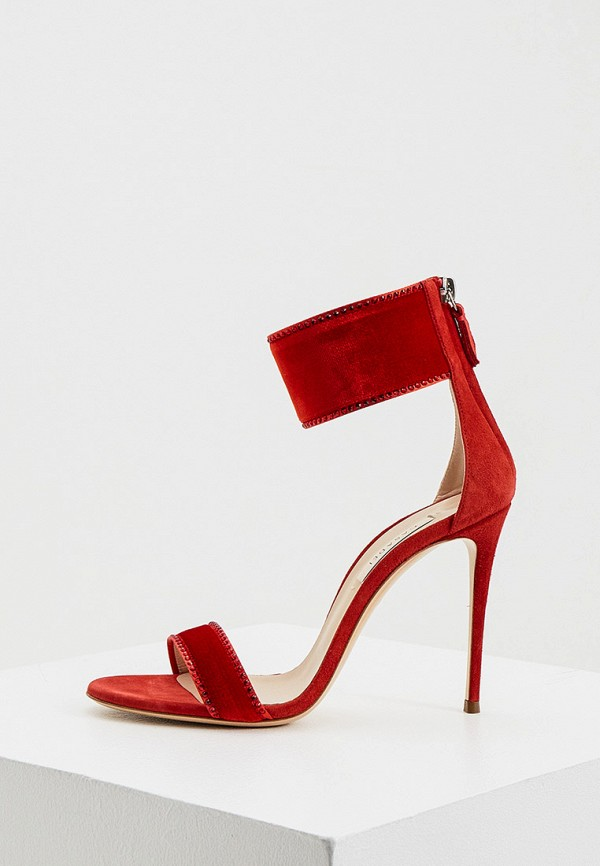 женские босоножки casadei, красные
