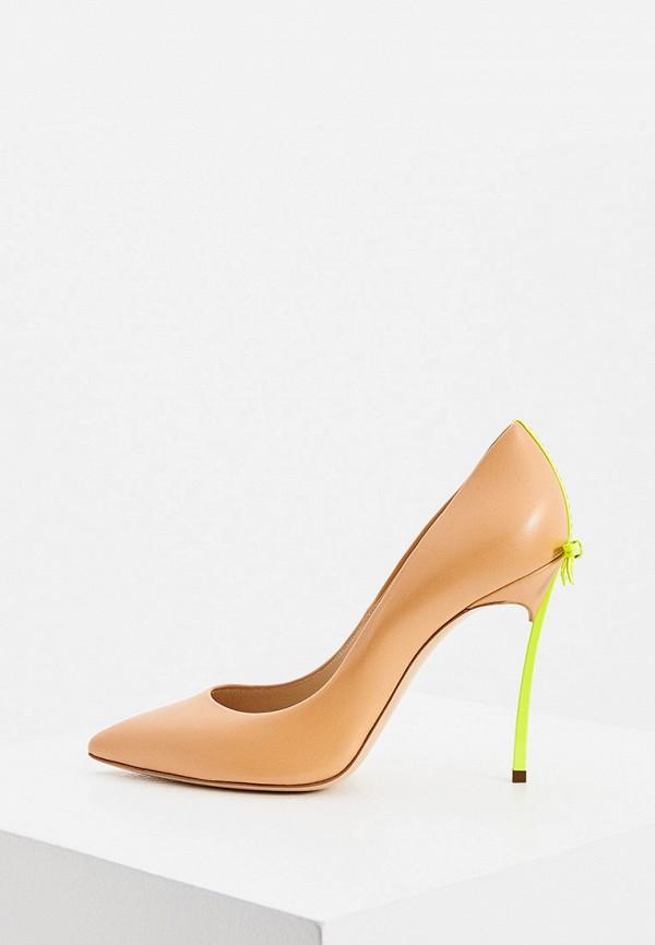 женские туфли casadei, бежевые