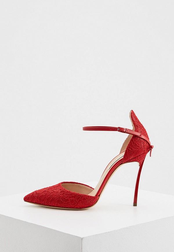 женские туфли casadei, красные