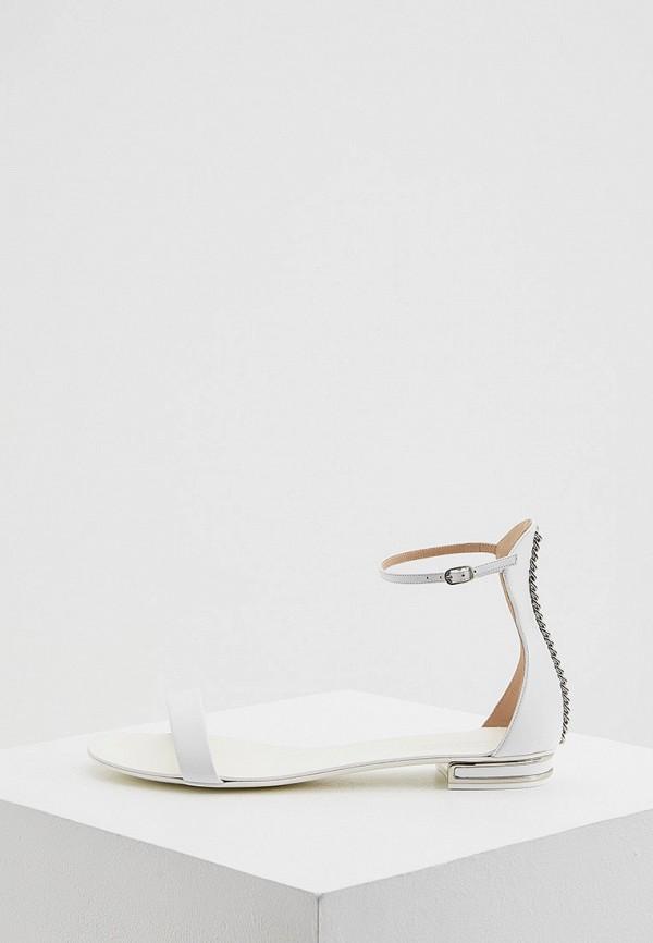 Сандалии Casadei белого цвета