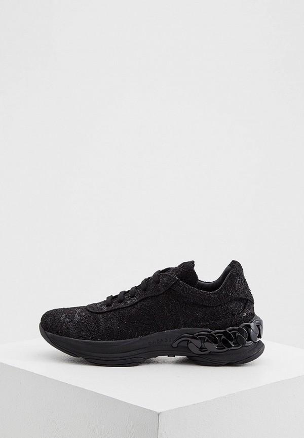 женские кроссовки casadei, черные