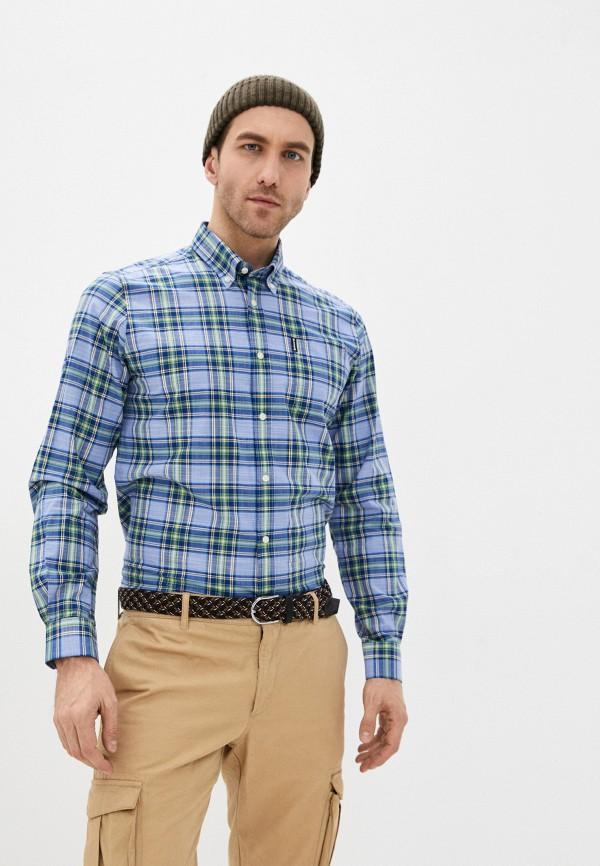 мужская рубашка с длинным рукавом barbour, синяя