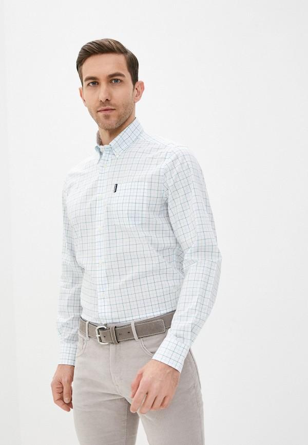 мужская рубашка с длинным рукавом barbour, белая