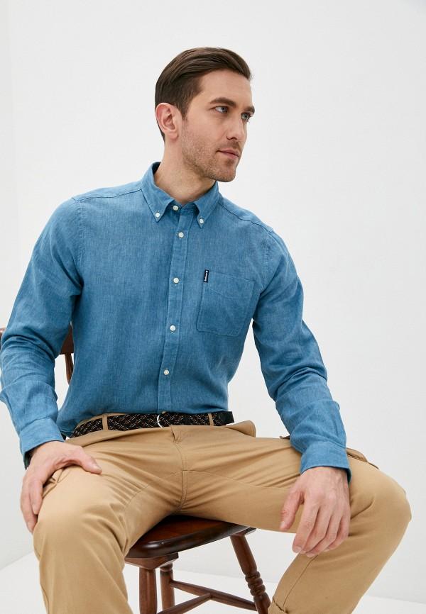 мужская рубашка barbour, синяя