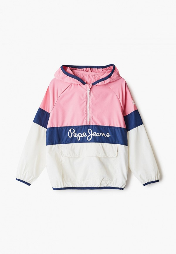 ветровка pepe jeans london для девочки, разноцветная