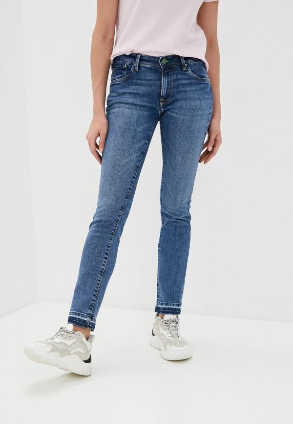 женские прямые джинсы pepe jeans london, голубые