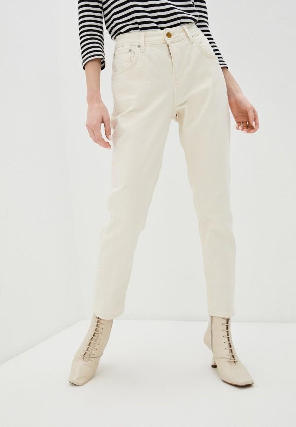 женские повседневные брюки pepe jeans london, бежевые