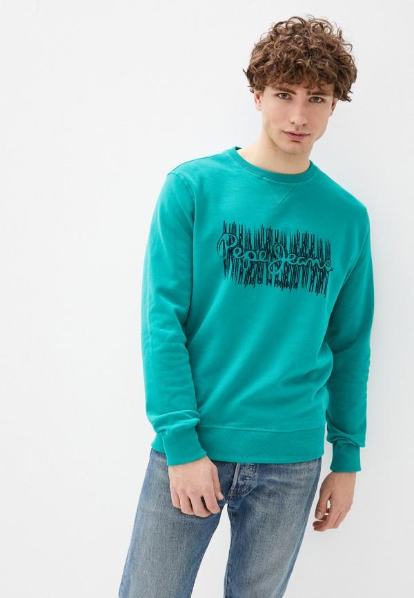мужской свитшот pepe jeans london, бирюзовый