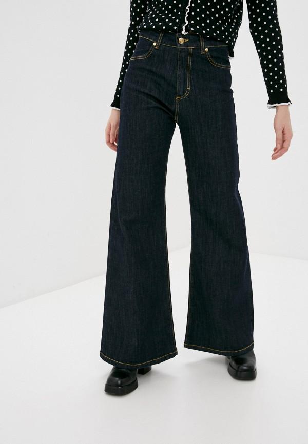 женские джинсы клеш rinascimento, синие