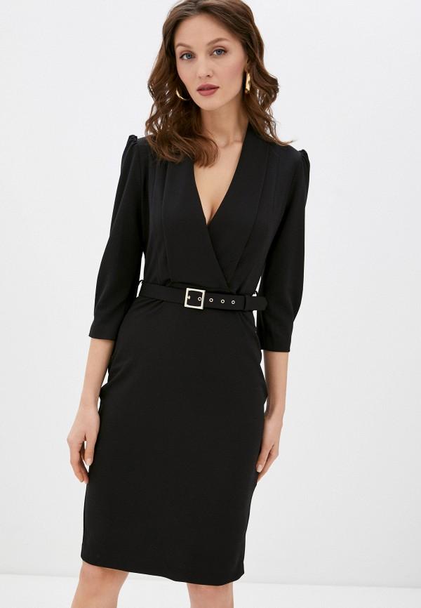 женское платье-футляр rinascimento, черное