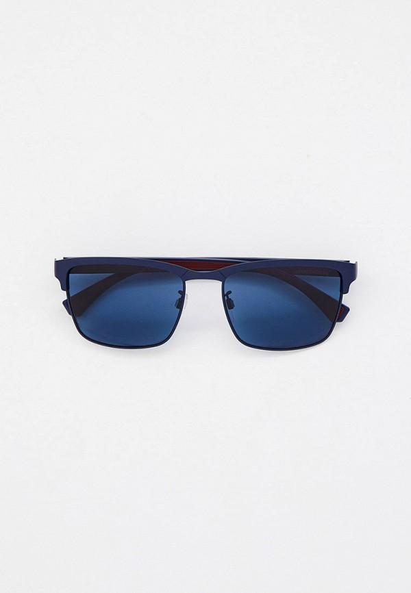 мужские квадратные солнцезащитные очки emporio armani, синие