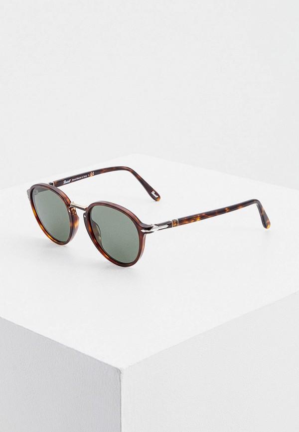 женские круглые солнцезащитные очки persol, бордовые