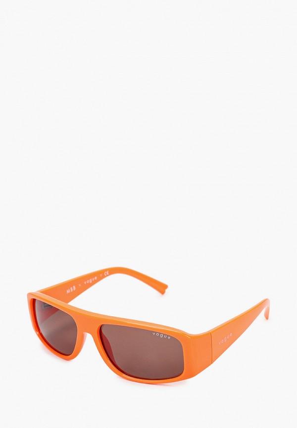 женские квадратные солнцезащитные очки vogue® eyewear, оранжевые