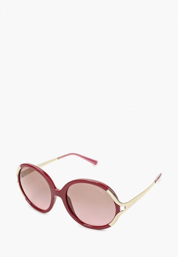 женские круглые солнцезащитные очки vogue® eyewear, розовые