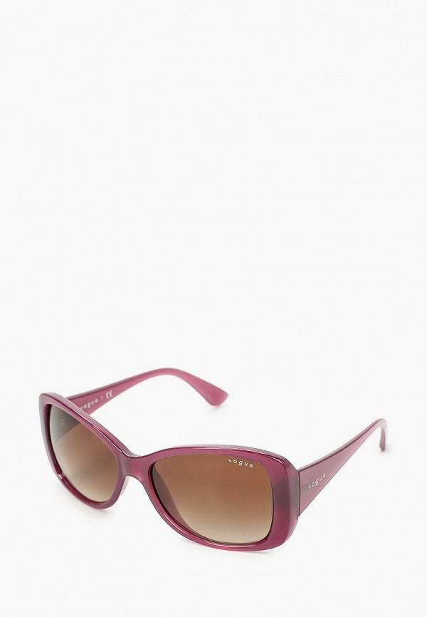 женские квадратные солнцезащитные очки vogue® eyewear, фиолетовые