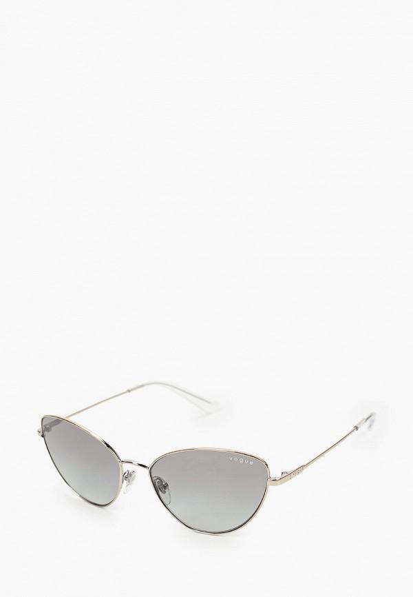 женские солнцезащитные очки кошачьи глаза vogue® eyewear, серебряные