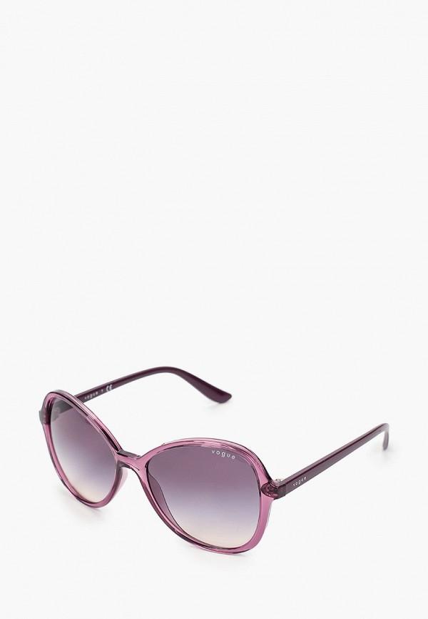 женские круглые солнцезащитные очки vogue® eyewear, фиолетовые
