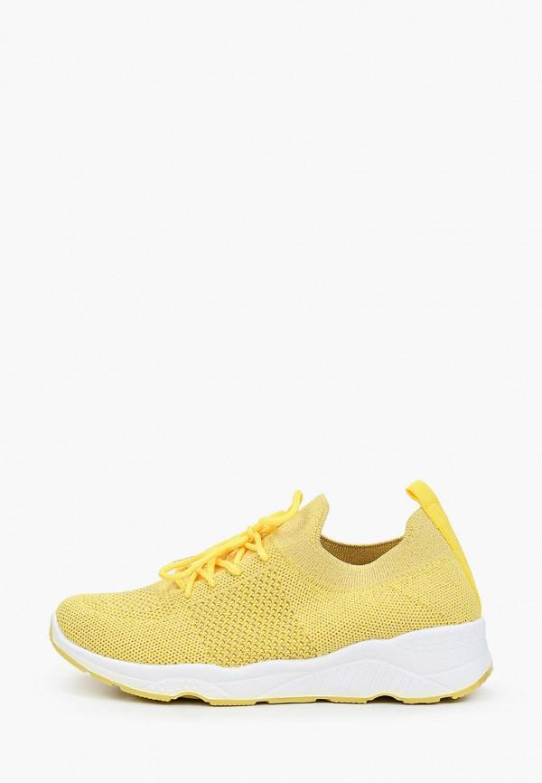 женские низкие кроссовки stephan, желтые